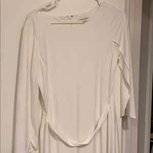 White light dress with wrap sleeves